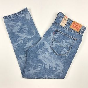 Levis 541 Athletic Fit Taper Camo Blue Jeans 40x32